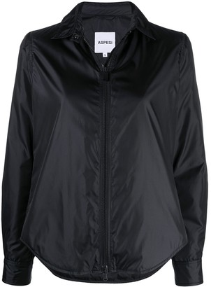 Aspesi Classic-Collar Zip-Up Bomber Jacket