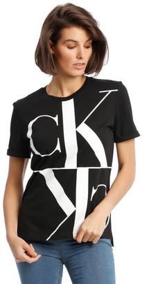 Calvin Klein Jeans Mirrored Monogram Straight Tee