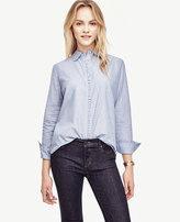 Ann Taylor Ruffle Chambray Shirt