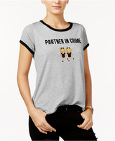 Freeze 24-7 Juniors' Partner In Crime Graphic Ringer T-Shirt