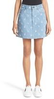 Marc Jacobs Women's Broderie Anglaise Denim Miniskirt