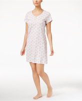 Charter Club Henley-Style Printed Knit Sleepshirt, Only at Macy's