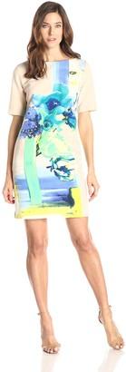 Julian Taylor Women's Short Sleeve Floral Dress