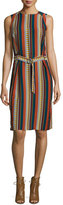 Tory Burch Julia Sleeveless Striped Dress, Oceano