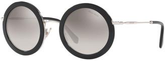 Miu Miu Round Metal Gradient Sunglasses