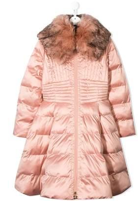 Elisabetta Franchi La Mia Bambina TEEN flared padded coat