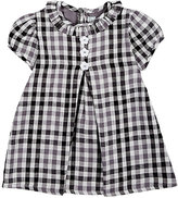 Isabel Garreton Gingham Cotton Dress-GREY