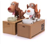 SODIAL(R) Robotic Dog Puppy Hungry Hound Bank Coin Eating Save Money Box Collection Gift