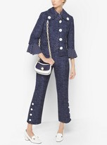 Michael Kors Denim Wool-Jacquard Jacket