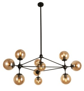 """Home Accessories Almiana 49"""" 10-Light Indoor Pendant Lamp with Light Kit"""