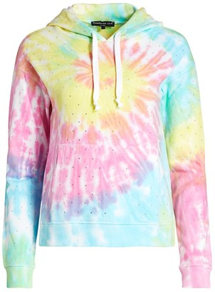 Generation Love Crystal Rainbow Tie-Dye Hoodie