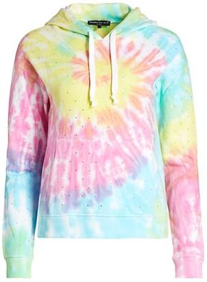 Generation Love Crystal Rainbow Tie-Dye Hoodie