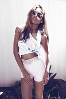 Wildfox Couture Beach Bum Charlie Crop Tank in Clean White