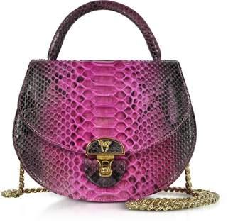 Ghibli Python Leather Shoulder Bag w/Chain