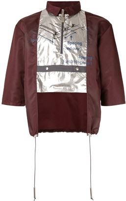 A-Cold-Wall* constructed polo with metallic layer