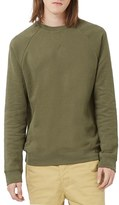 Topman Men's Classic Fit Raglan Crewneck Sweatshirt