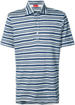 Isaia striped polo top - men - Cotton/Linen/Flax - M