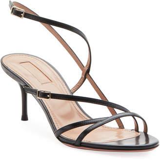 Aquazzura Carolyne Asymmetric Strappy Sandals