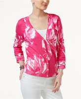 INC International Concepts Printed Cardigan, Only at Macy's