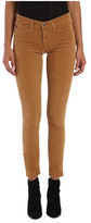 AG Jeans Women's Velvet Legging in Sulfur Toffee Brown