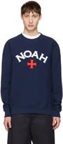 Noah Navy Varsity Logo Sweatshirt
