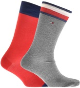 Tommy Hilfiger 2 Pack Iconic Flag Socks Red