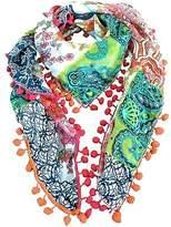 NEW Gigi silk scarf with pompom trim Women's by Charli Bird