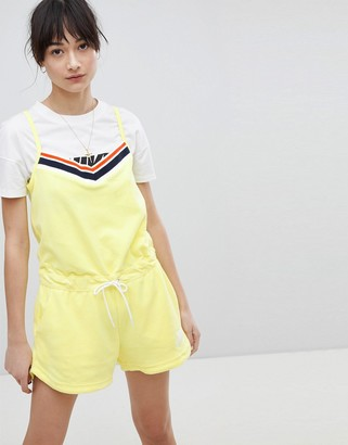 Nike Romper In Yellow Terry Towelling