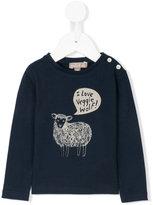 Emile et Ida sheep print longsleeved T-shirt
