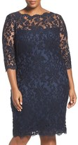 Tadashi Shoji Plus Size Women's Embroidered Lace Sheath Dress