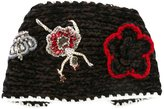 Dolce & Gabbana knitted head band - women - Silk/Polyester/Crystal/glass - One Size