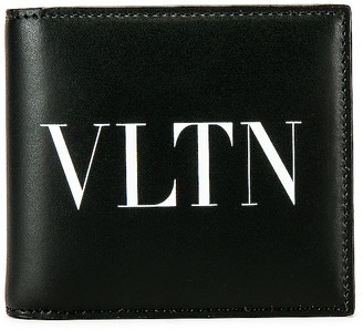 Valentino Logo Wallet in Black & White   FWRD