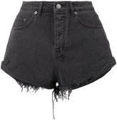 Ksubi frayed denim shorts - women - Cotton - 24