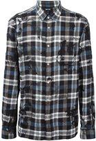 Just Cavalli plaid button down shirt