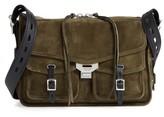 Rag & Bone Field Messenger Suede Shoulder Bag - Green