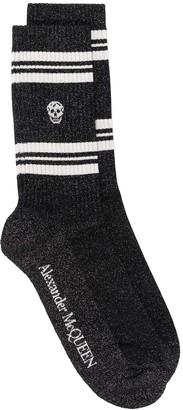 Alexander McQueen Logo Glitter Socks