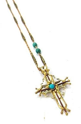 Natalie B Jewelry Spiritual Harmony Cross Necklace