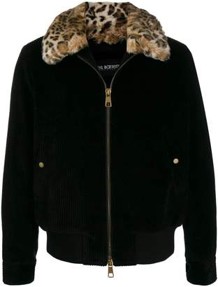 Neil Barrett contrast collar bomber jacket