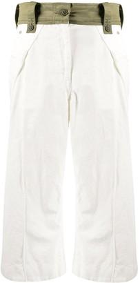 Sacai Cropped Contrast Waistband Trousers