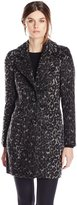 Steve Madden Women's Wool Blend Boyfriend Coat