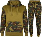 My Mix Trendz Kids Boys Girls Contrast Camouflage 2 piece Tracksuit Sweat Pants and Hoodie