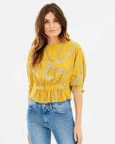 Mng Chain Print Blouse
