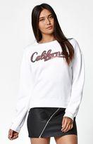 La Hearts California Sequined Crew Neck Sweatshirt