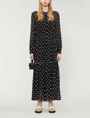 Claudie Pierlot Rivoltae floral chiffon midi dress