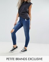 Urban Bliss Petite Distressed Ripped Skinny Jeans