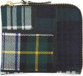 Comme des Garcons Tartan half zip wool wallet