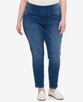 Tommy Hilfiger Plus Size Pull-On Slim-Leg Jeans