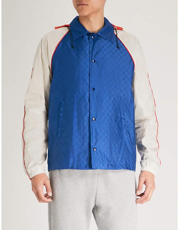 Gucci GG logo-print shell jacket