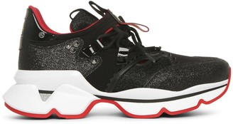 Christian Louboutin Red Runner Donna black sneakers