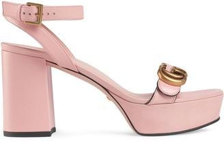Gucci Double G platform sandals